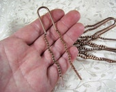 Huge Copper Hairpins - 6 count