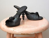 Vintage 1950s Shoes - 50s Lucite Heels - The Marilyn