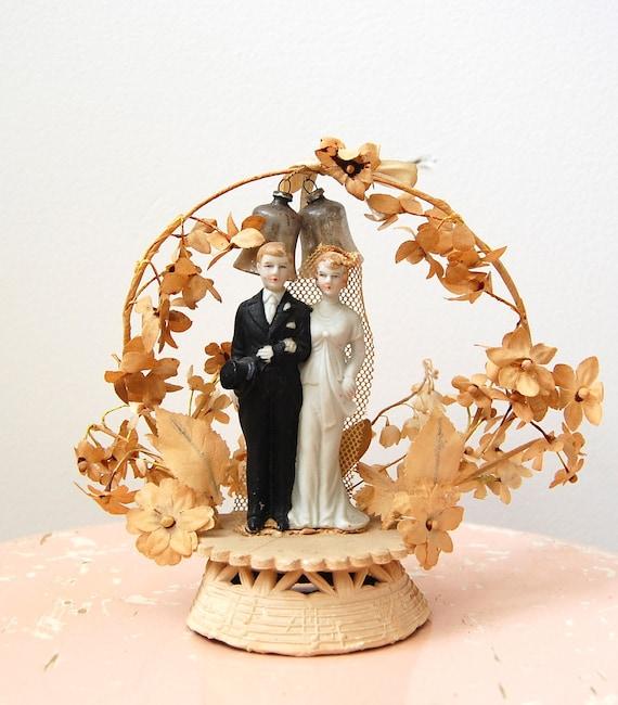 ON HOLD - Vintage 1930s Cake Topper - Bisque Bride & Groom