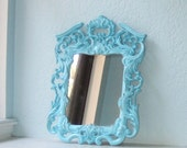 Reserved for MyrtleS4 Ornate Turquoise Mirror