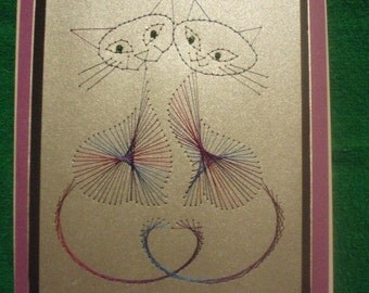 Cats, Stitched card