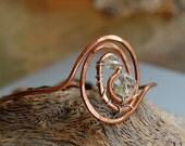 Copper and vintage crystal bracelet
