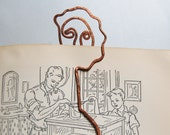 Mona Lisa, copper woman bookmark
