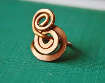 swirly copper ring