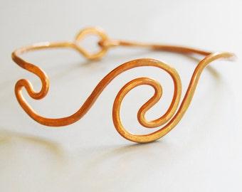Do the Wave, copper bracelet