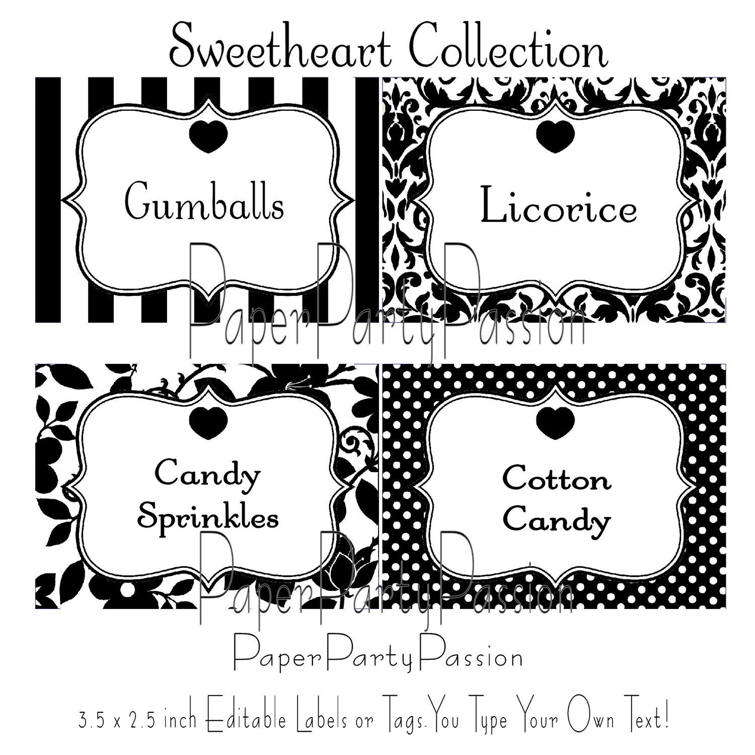 It's just a picture of Vibrant Candy Buffet Label Template