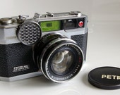 1960s Petri EBn Electric Eye 35mm Camera Rangefinder with Leather Case