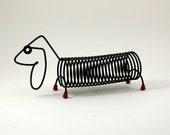 Wire Dachshund Dog Letter Organizer Designed by Robert Dietz