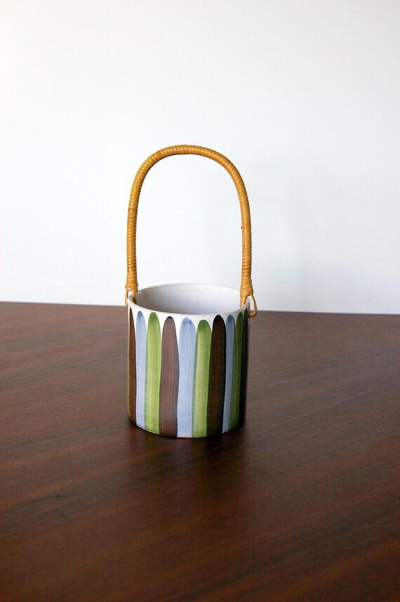 Reserved for Shinmr: Bangholm Ceramic Handled Ice Bucket - Made in Denmark
