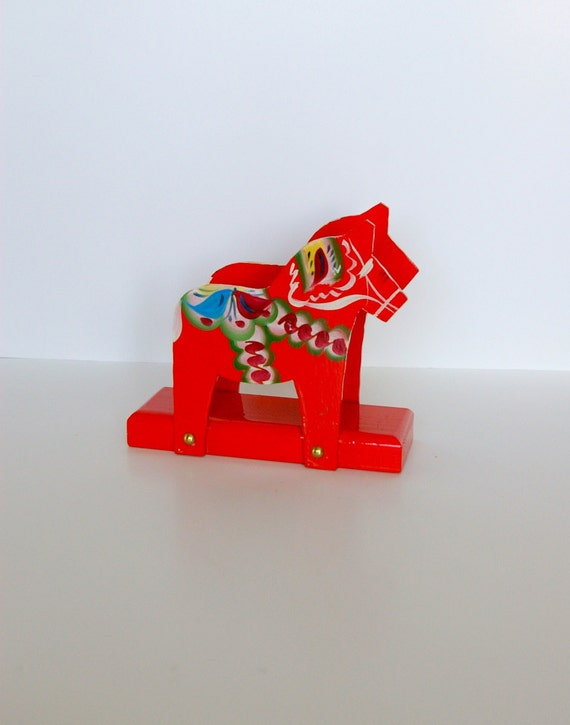 Dala Horse Napkin Holder Designed by Nils Olsson