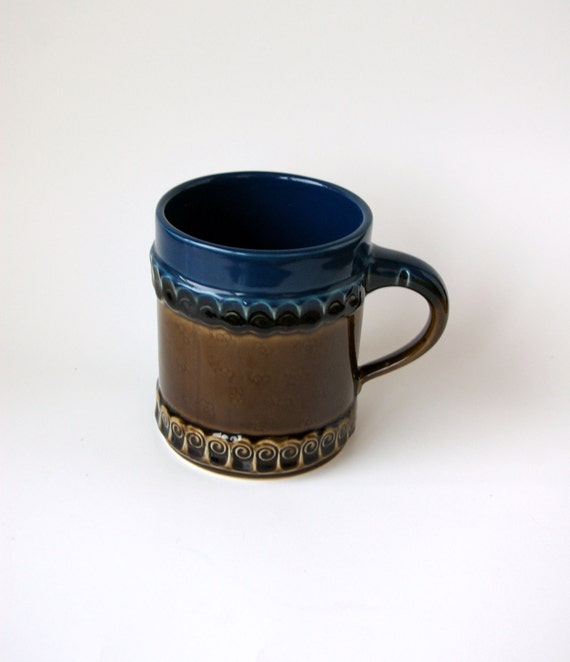 Rosenthal Studio Line Large Blue and Brown Mug
