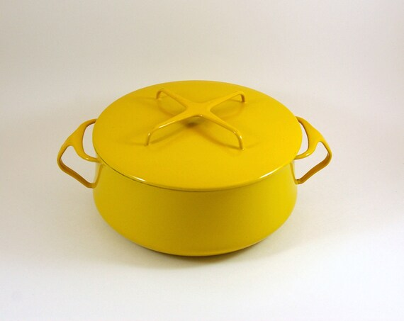 Dansk Kobenstyle Dutch Oven in Bright Yellow - Made in Denmark - Designed by Jens Quistgaard