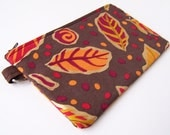 Autumn Leaves Medium Zippered Pouch
