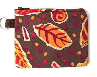 Autumn Leaves Small Zippered Pouch