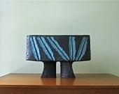 Mid Century Modern Japanese Studio Pottery Ikebana Vase