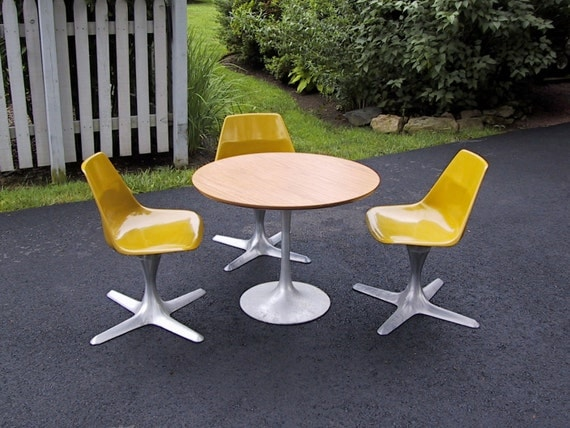Reserved for Suzie, Child's Mid Century Modern Furniture Table and Chair Set Burke