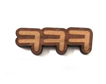 Korean Hangul LOL Pin, Internet Slang Wood Brooch, Korean Language Badge, Kpop Fan Gift For Him or Her, Kdrama Lover, Student Learn Culture