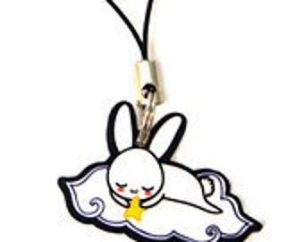 Sleepy Bunny Phone Charm