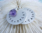 Hand Stamped Sterling Silver Necklace.......