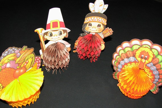 Vintage beistle thanksgiving decorations by