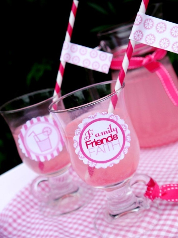 Breast Cancer Awareness Month - Pink Lemonade Printable Party Supplies