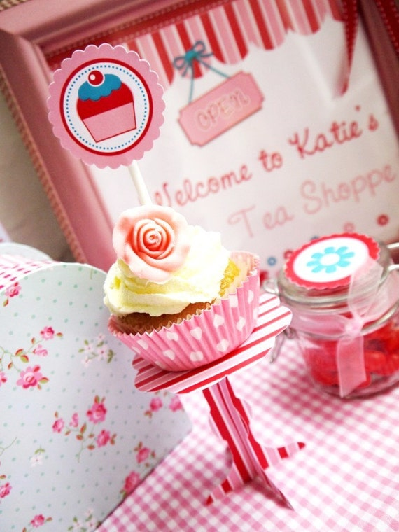Hello Kitty Inspired Tea Party Printable Collection including Fill-In Party Invite - With CUSTOMIZABLE Templates