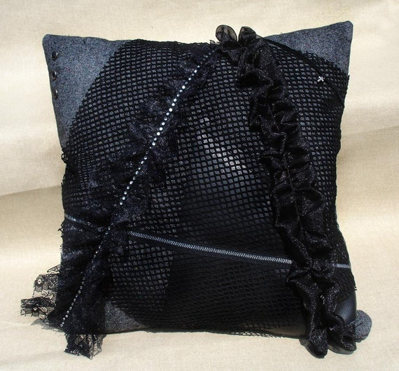 GOTHIC / ANARCHY Pillow / Cushion cover OOAK