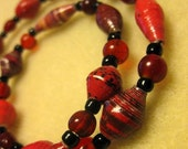 BeadforLife Red Recycled Paper Necklace