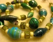 BeadforLife Green Recycled Paper Necklace