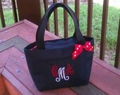 Custom Personalized Monogram Initial Cooler or Lunch Tote