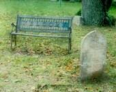 Welcoming Graveyard Bench - Fine Art Photo Illustration ~ Multiple sizes
