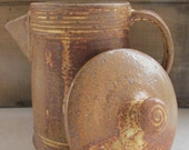 Brown Yum Yum Yellow  Coffee Server - NewProspectPottery