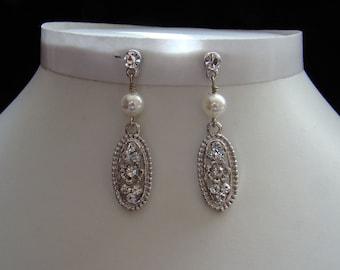 Dangle Earrings Swarovski Pearl Rhinestone (E3042)