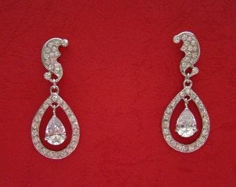 Bridal Earrings Cubic Zirconia (E4067)