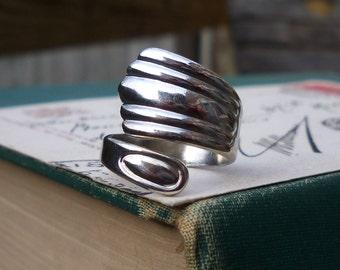 vintage silver spoon / spoon ring / silver ring / SILVER SPOON