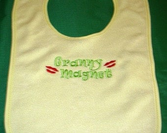 Embroidered Baby bib (Granny Magnet)
