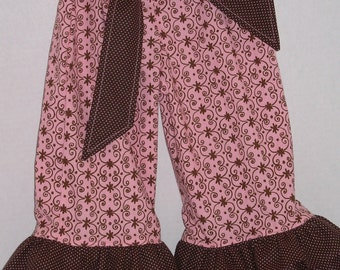 Double Ruffled Pants Baby Girl Size 12-18 months