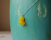just ducky. sterling silver and czech glass necklace