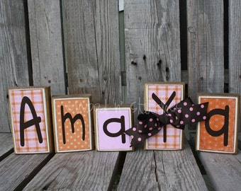 Personalized  wood block set . . . LOTS of possibilities and options . . . Convo me with questions or for a listing today