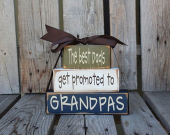 Fathers Day Dad Grandpa Papa Fathers Day Grandma Nana Mom Stacker wood blocks personalized gift fathers day home decor.