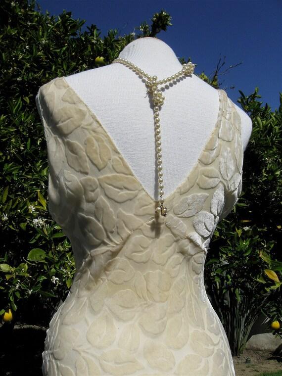 Vintage Velvet Devore Burnout Floral Floor Length Boudoir Gown//Fishtail Train//Old Hollywood Glamour//Clara Bow//Pickford//Garbo