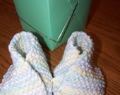 Multi Colored Knitted Fortune Cookie Booties