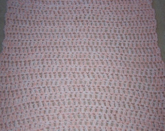 Crochet 3 Strand Baby Blanket