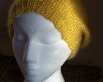 Yellow (Ish)  Slouchy Knit Hat
