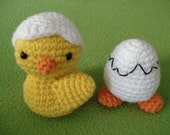 Amigurumi Pattern Chicken and Egg with Feet Easter PDF