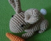 "Amigurumi Pattern ""Easter hare with carrot"""