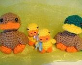 Amigurumi Happy Ducks PDF crochet pattern