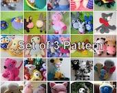 "Amigurumi Pattern Deal ""Set of 3 Pattern"""