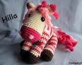 Amigurumi Hilla Zebra Horse PDF Crochet Pattern