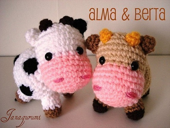 Amigurumi Pattern Little cows PDF by Janagurumi on Etsy